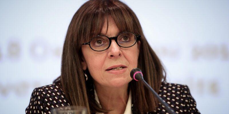 Ekaterini Sakellaropoulou, presidente della Repubblica Greca. Prima donna a ricoprire la carica