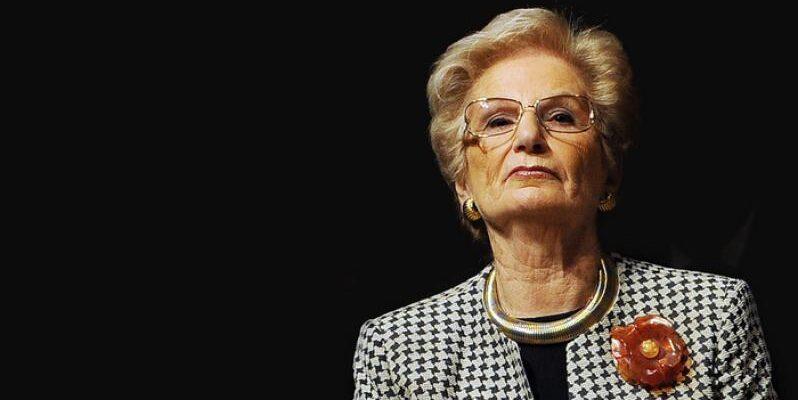 Liliana Segre, attivista e politica italiana, superstite dell'Olocausto e attiva testimone della Shoah italiana.