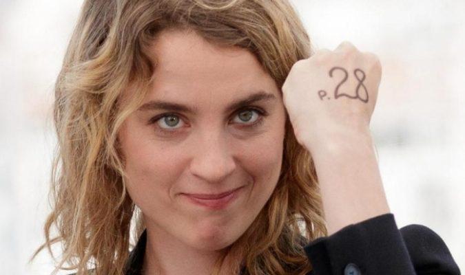 Adèle Haenel attrice francese ha protestato al Premio César contro la vittoria di Roman Polanski