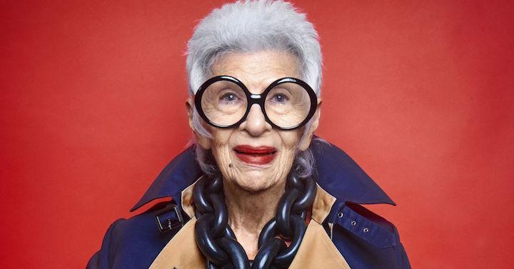 Iris Apfel la modella più anziana al mondo